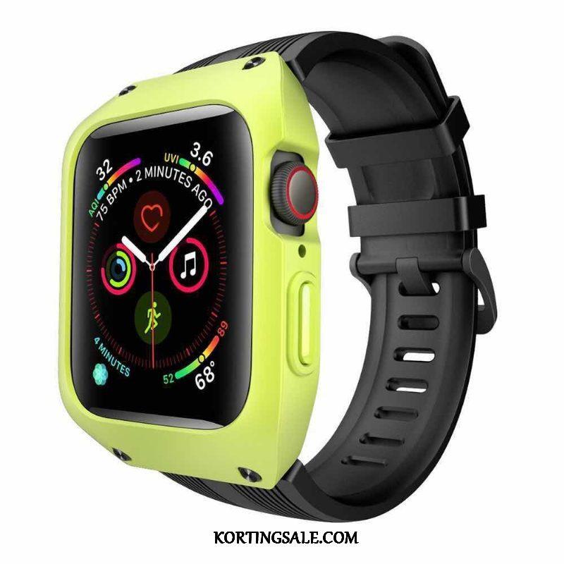 Apple Watch Series 3 Hoesje Drie Verdedigingen Bescherming Siliconen All Inclusive Groen