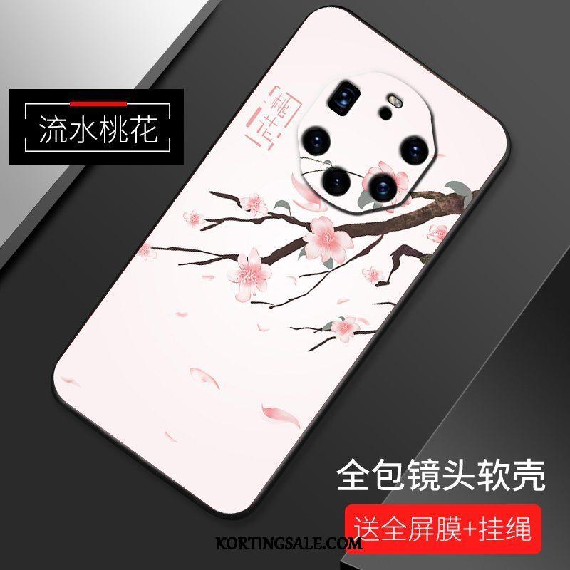Huawei Mate 40 Rs Hoesje Anti-fall Hoes Dun Roze Scheppend