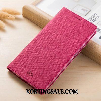 Huawei P Smart Z Hoesje Leren Etui Patroon Doek Mobiele Telefoon Grijs