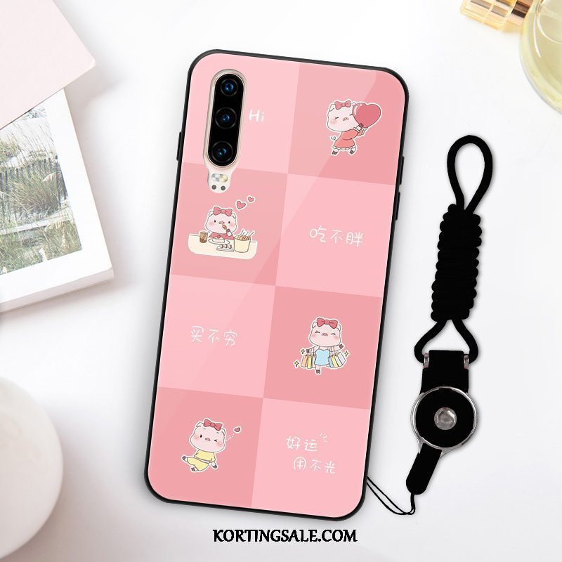 Huawei P30 Hoesje Rood Trend Hoes Anti-fall All Inclusive