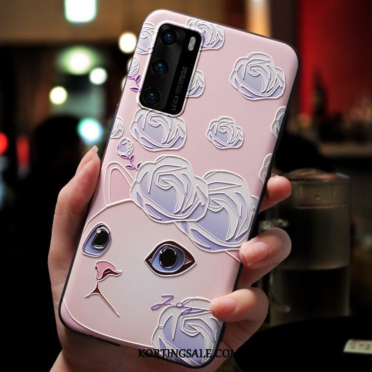 Huawei P40 Hoesje Siliconen Bescherming Dun Mooie Mobiele Telefoon