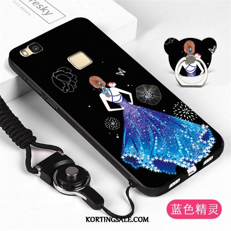 Huawei P9 Lite Hoesje Scheppend Blauw Zacht Anti-fall Schrobben