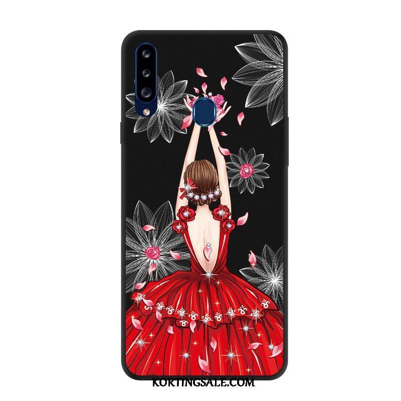Samsung Galaxy A20s Hoesje Hoes Groen Eenvoudige Zacht Ster