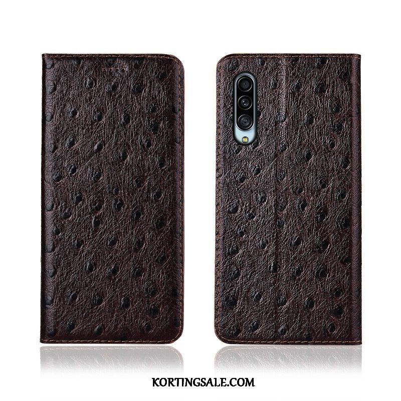 Samsung Galaxy A90 5g Hoesje Anti-fall Patroon Bescherming Rood Folio