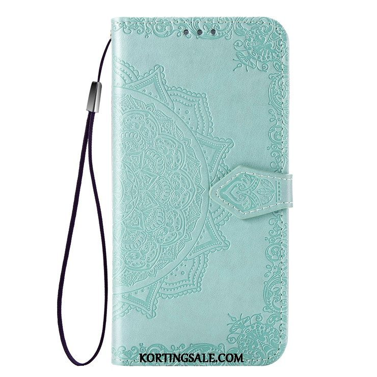 Samsung Galaxy M20 Hoesje Folio Anti-fall Groen All Inclusive Bescherming