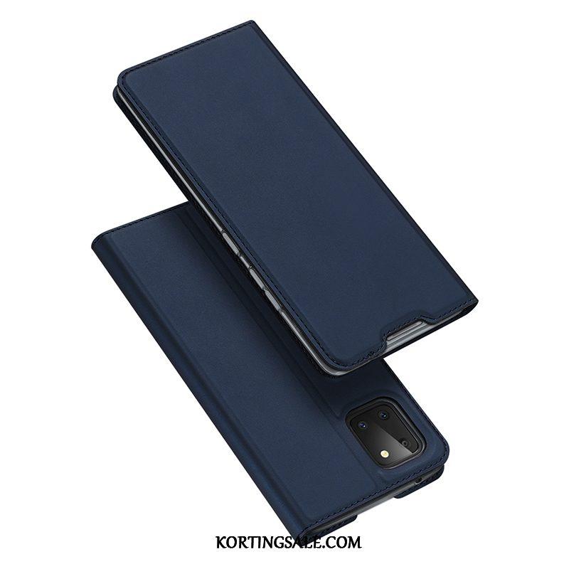 Samsung Galaxy Note 10 Lite Hoesje All Inclusive Roze Leren Etui Ster Bescherming
