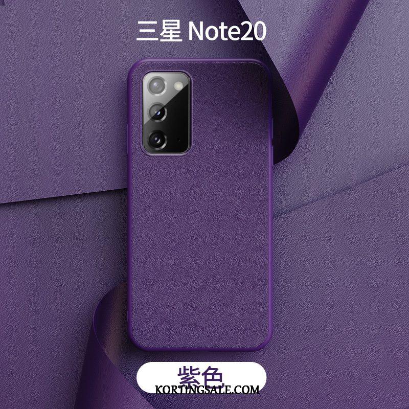 Samsung Galaxy Note20 Hoesje Bescherming Leren Etui Mobiele Telefoon High End Dun
