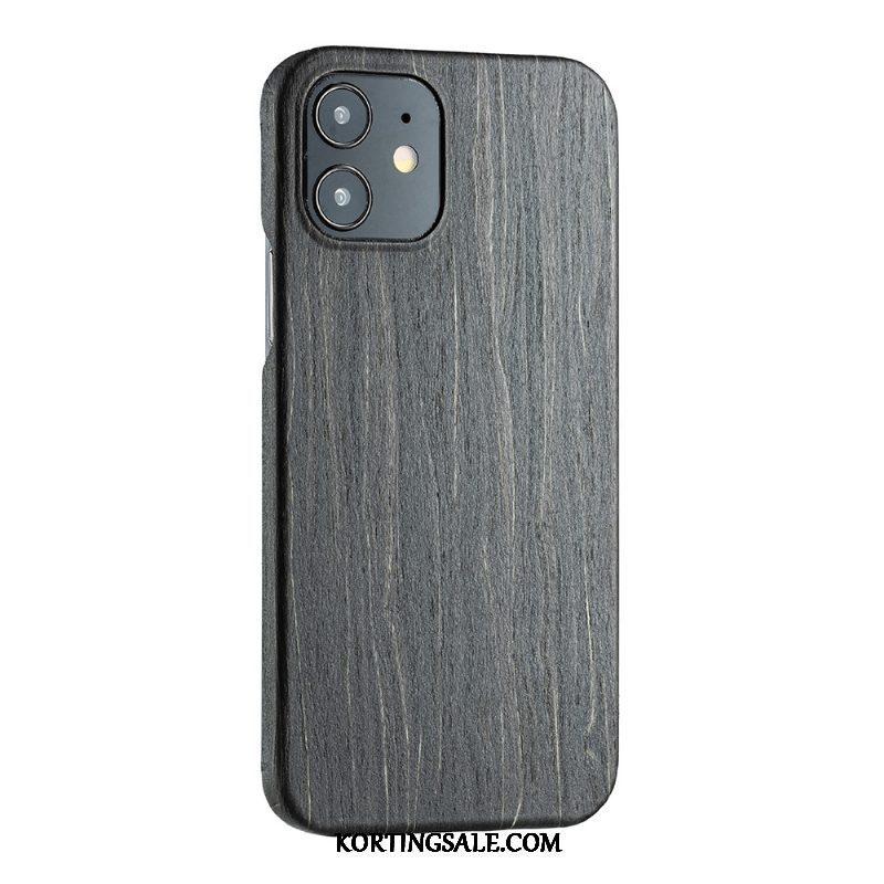 iPhone 12 Mini Hoesje Bescherming Voor Anti-fall Hout Dun