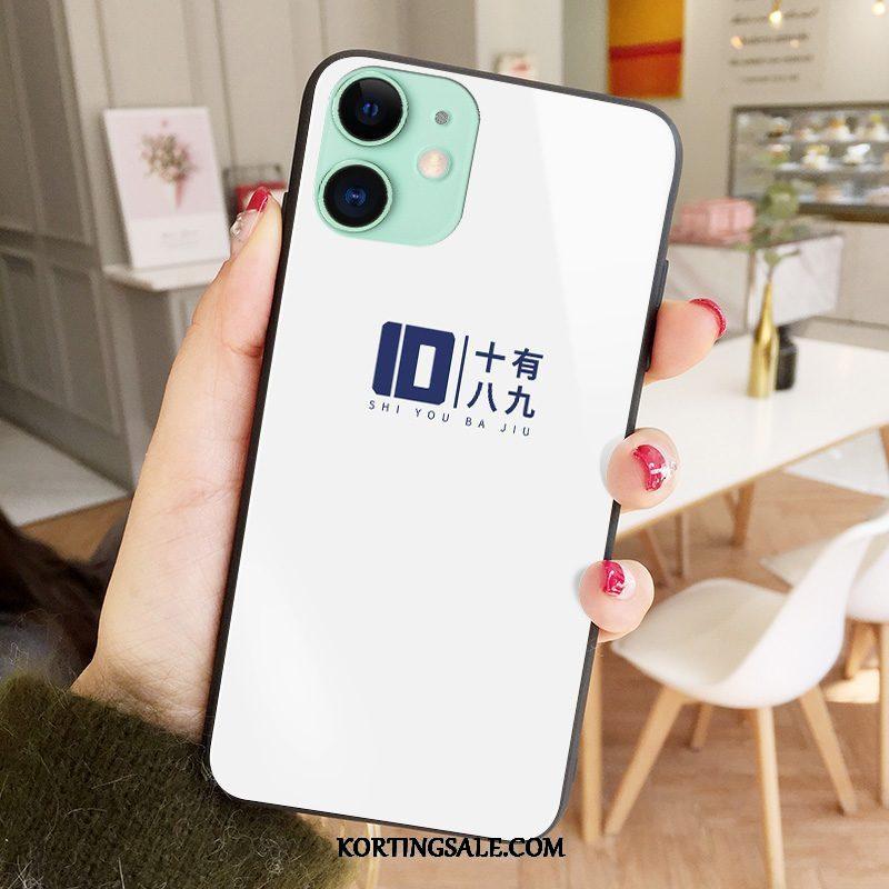iPhone 12 Mini Hoesje Glas Mobiele Telefoon Persoonlijk Mode Zwart