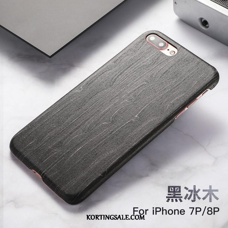 iPhone 8 Plus Hoesje Chinese Stijl Bescherming Massief Hout Hoes Persoonlijk