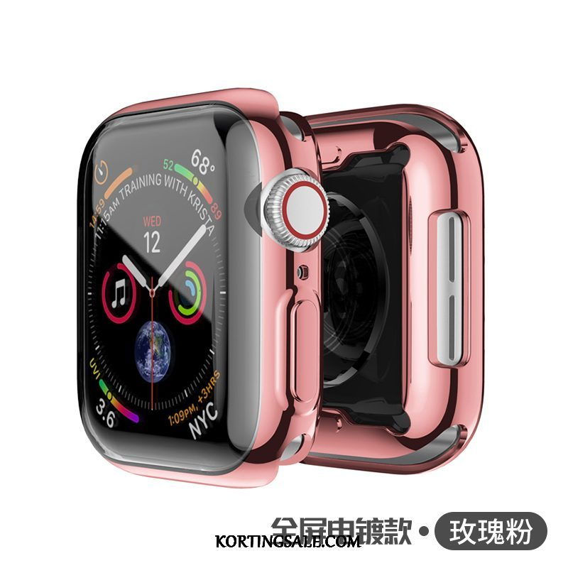 Apple Watch Series 2 Hoesje All Inclusive Plating Bescherming Metaal Roze