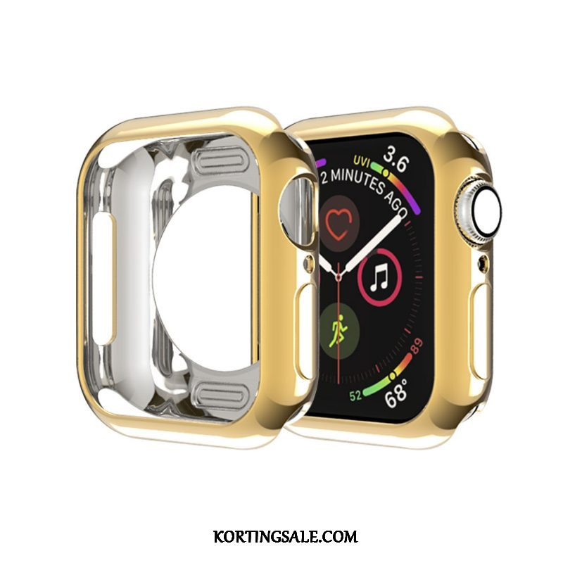 Apple Watch Series 2 Hoesje Omlijsting Hoes Siliconen Dun Goud