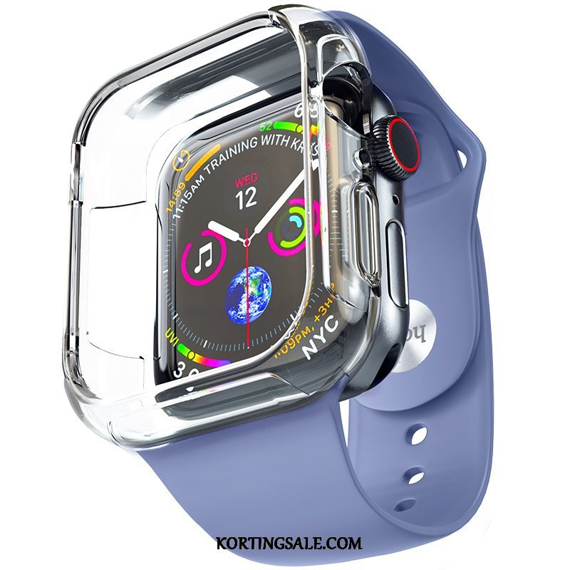 Apple Watch Series 4 Hoesje Trend Plating Hoes Accessoires Siliconen