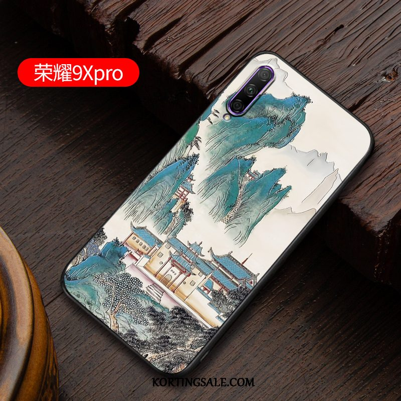 Honor 9x Pro Hoesje Schrobben Chinese Stijl Hoes Lovers Pas