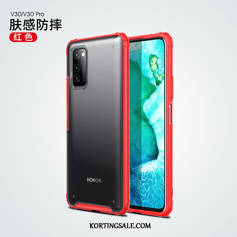 Honor View30 Pro Hoesje Siliconen Dun Tas Anti-fall Rood