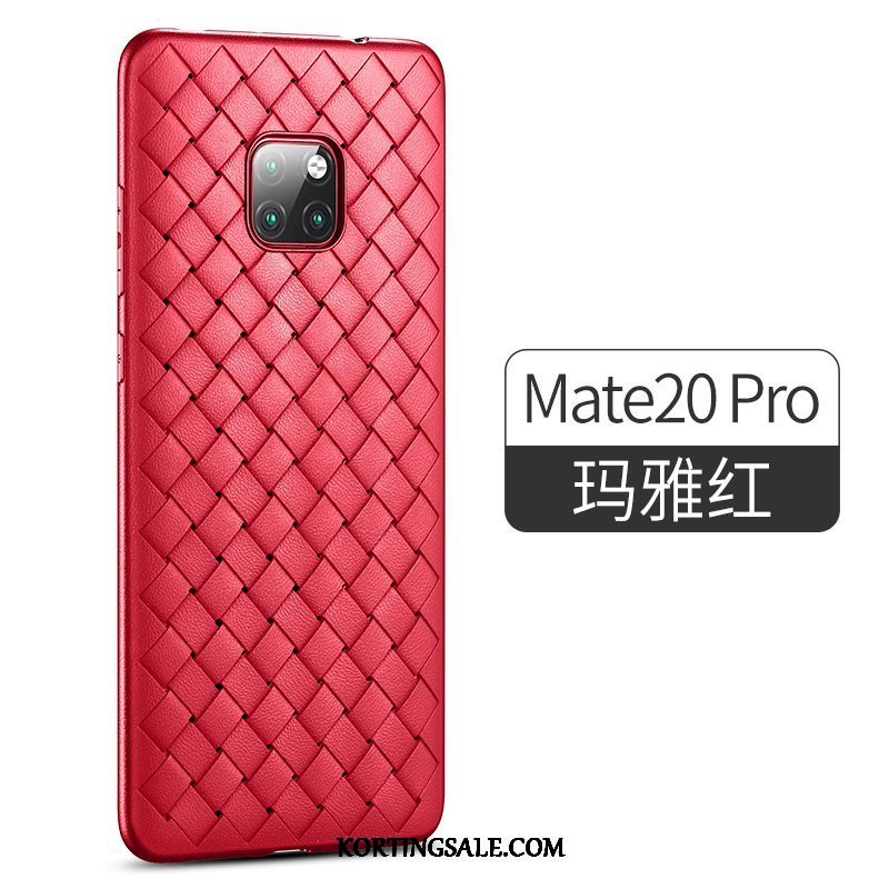 Huawei Mate 20 Pro Hoesje Schrobben All Inclusive Net Red Dun Scheppend