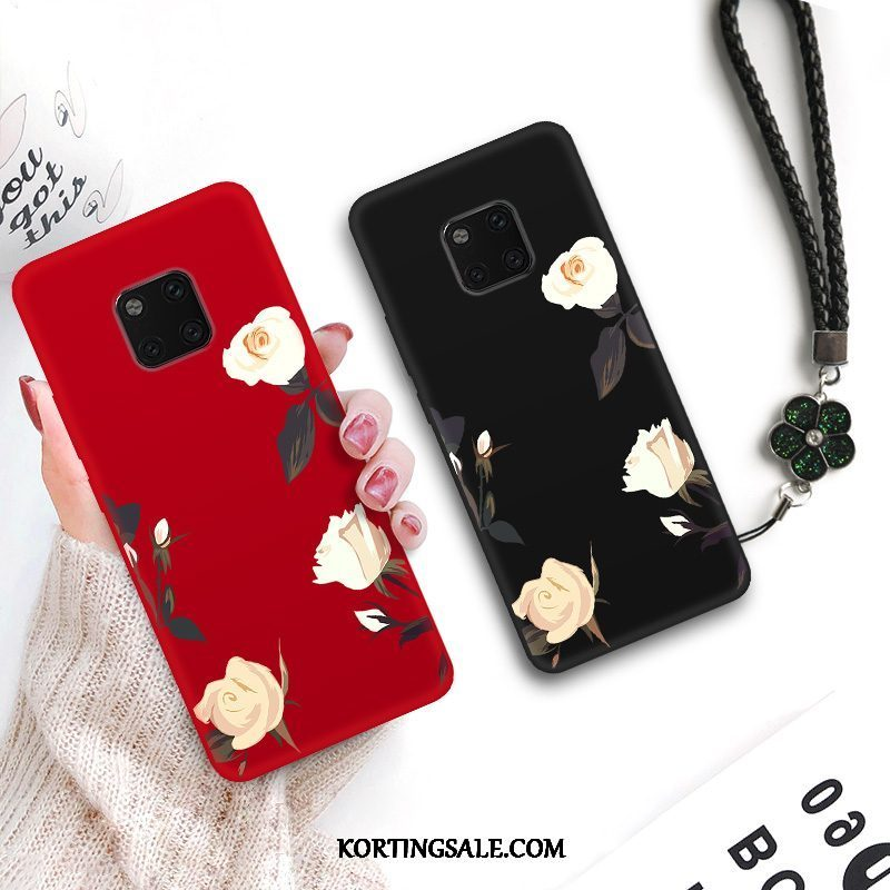 Huawei Mate 20 Rs Hoesje Bloemen Anti-fall Lovers Siliconen Kunst