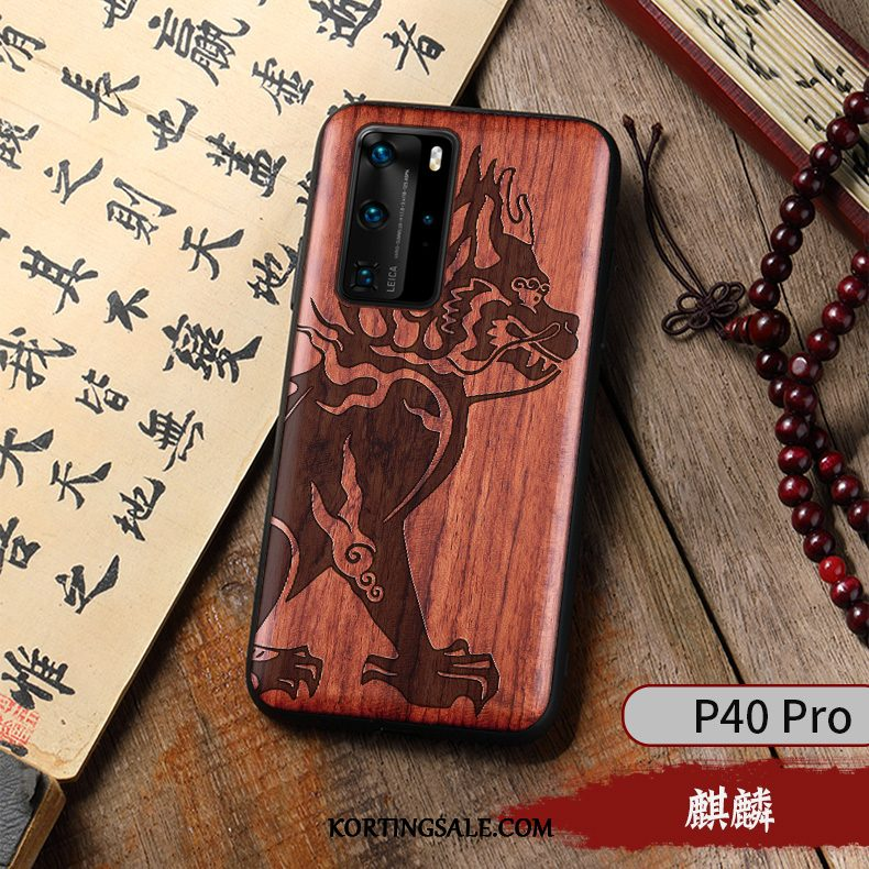 Huawei P40 Pro Hoesje Mobiele Telefoon Scheppend Chinese Stijl Vintage Hoes