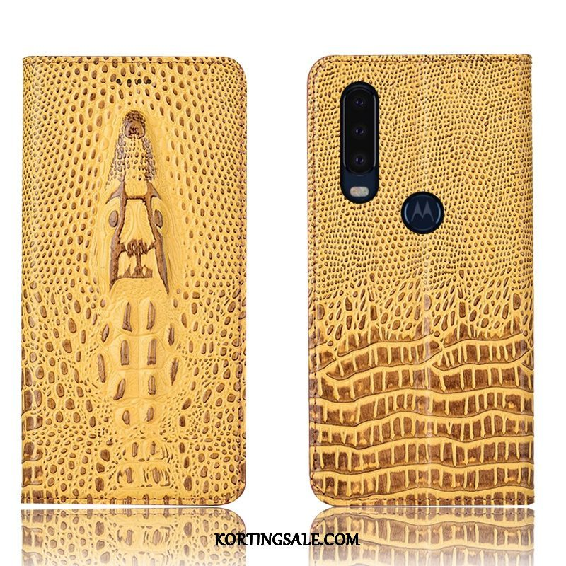 Motorola One Action Hoesje Hoes Folio Bescherming All Inclusive Anti-fall
