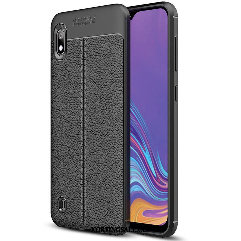 Samsung Galaxy A10 Hoesje Siliconen All Inclusive Patroon Leer Ster