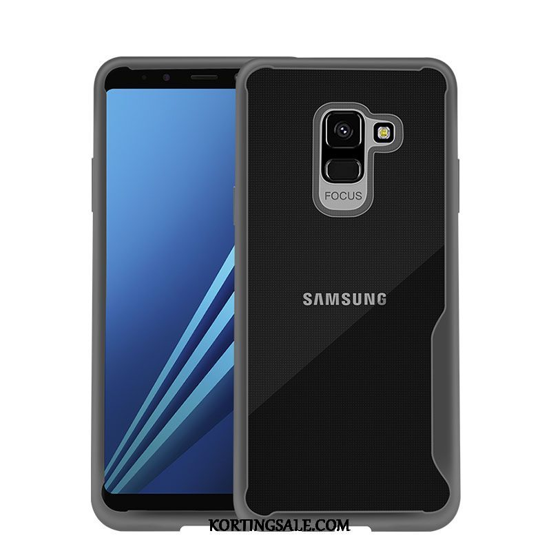 Samsung Galaxy J6 Hoesje Anti-fall Ster Zwart All Inclusive Doorzichtig