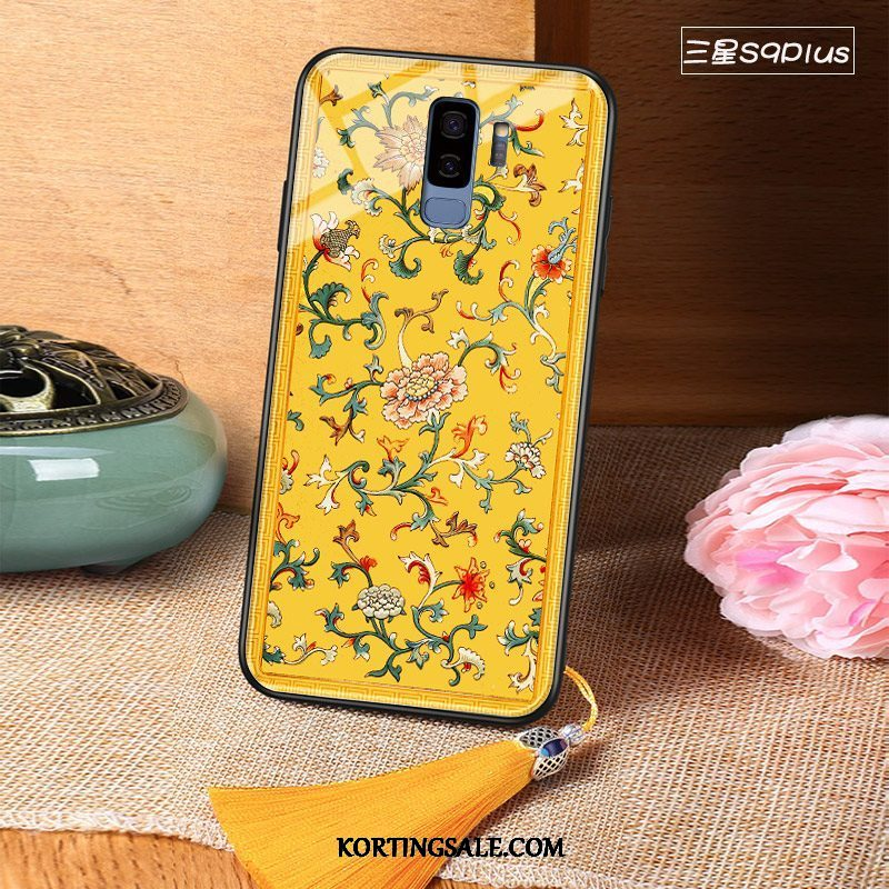 Samsung Galaxy S9+ Hoesje Chinese Stijl Glas Hard Scheppend High End