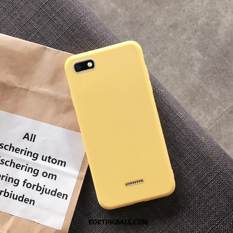 Xiaomi Redmi 6a Hoesje Mobiele Telefoon Lovers Net Red Effen Kleur Anti-fall