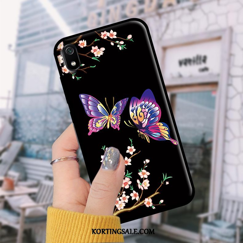 Xiaomi Redmi 7a Hoesje Rood Bescherming Student Hoes Skärmskydd