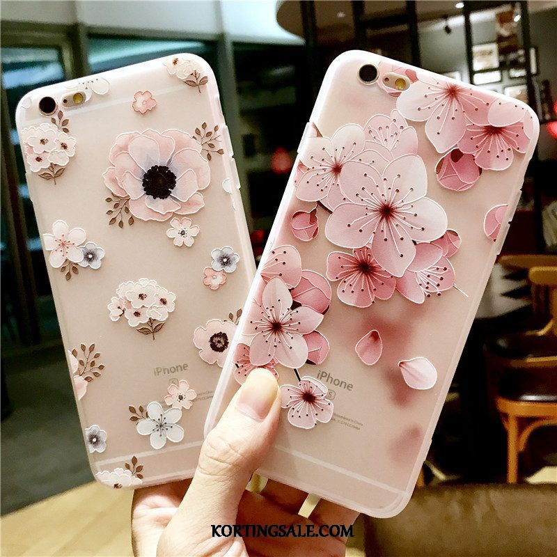iPhone 6/6s Hoesje Hoes Anti-fall Reliëf Zacht Trendy Merk